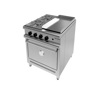 Cocina 700 - 2 Hornallas + Plancha.