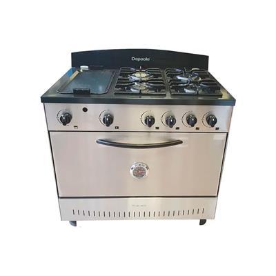 Cocina 90 cm Puerta Ciega 4 Hornallas + Plancha