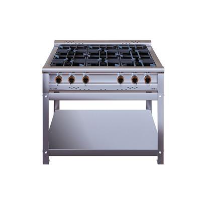 Anafe Morelli Basic Cheff 1100 6 Hornallas Rejas Fundicion