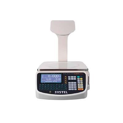 Balanza Electronica Cuora Con Impresor Autoadhesivo 15Kg Con Mastil - 4 Vend USB