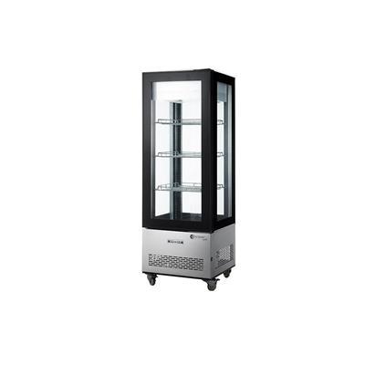 Freezer Vertical Exhibidor ITALY 4 Caras Vidrio 400 Lts